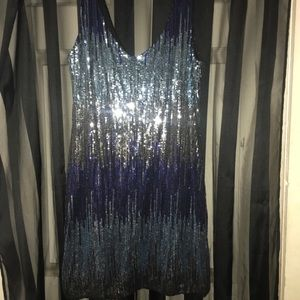 As U Wish semi formal sequin minidress